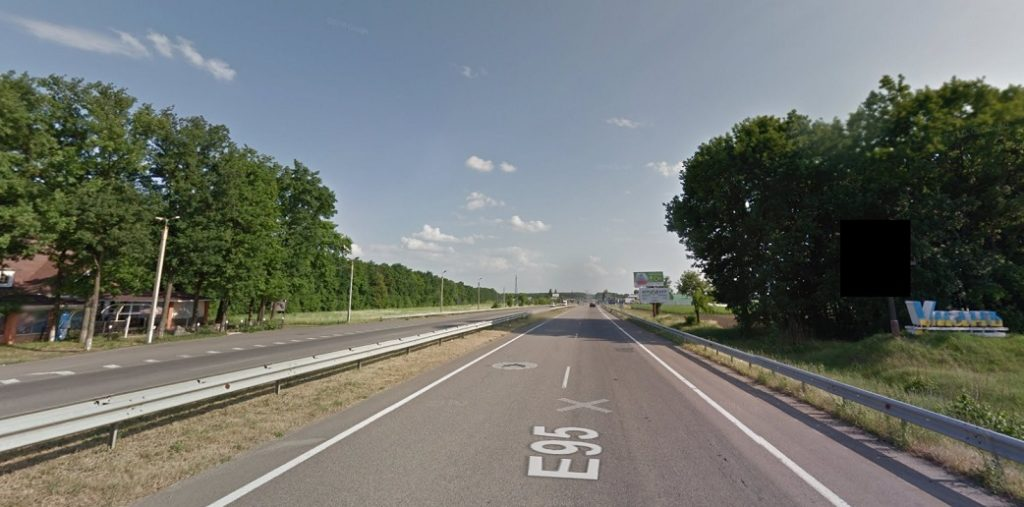 הכניסה לעיר אומן. צילום: מפות גוגל