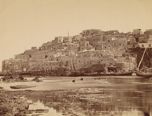 מבט על נמל יפו 1870