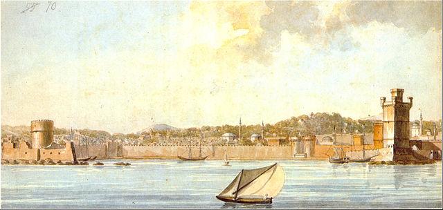 האי רודוס. ציור של Hope Thomas