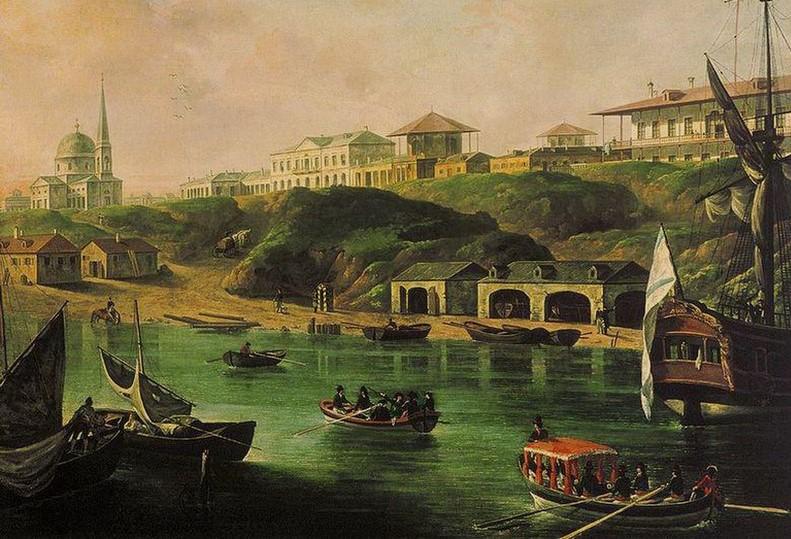 """העיר ניקולייב. ציור משנת תקס""""א לערך"""