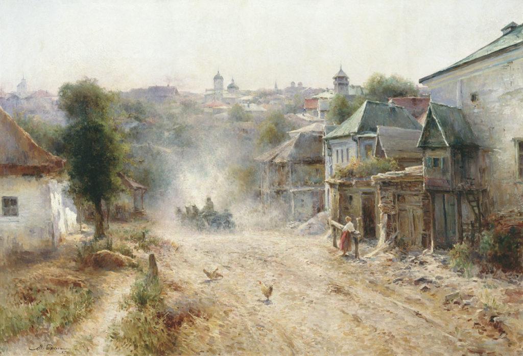 ציור עתיק של רחובות אומן